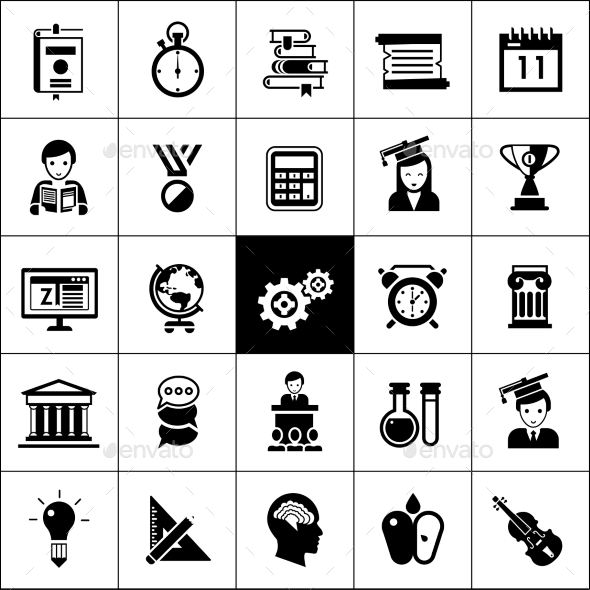University Icons Black - Miscellaneous Icons