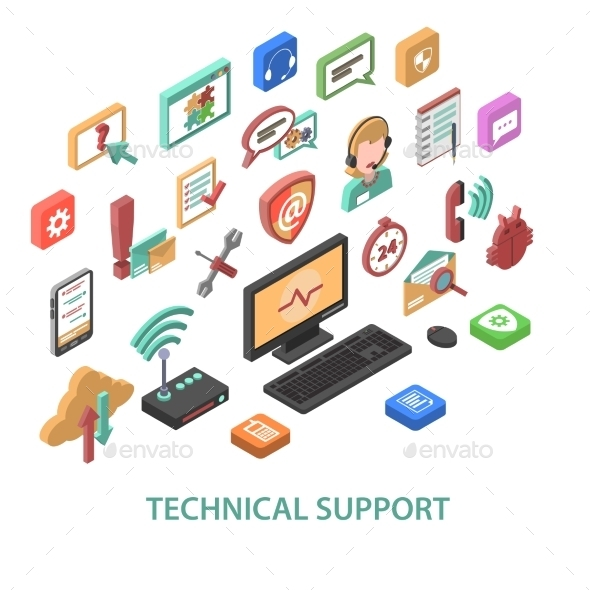 Technical Support Concept - Communications Technology