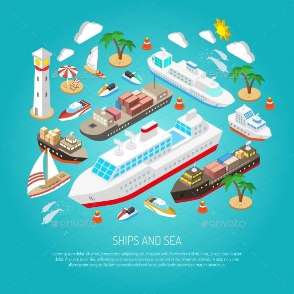 Sea and Ships Concept - Travel Conceptual