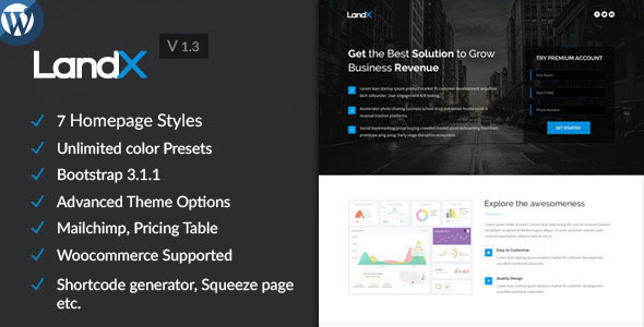 LandX – Multipurpose  WordPress Landing Page
