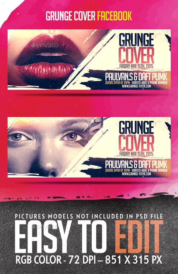 Grunge Cover Facebook Timeline Template - Facebook Timeline Covers Social Media
