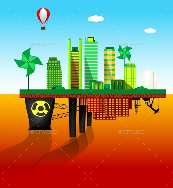 Green and Polluted Cities - Miscellaneous Conceptual