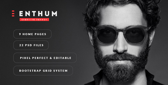 Enthum - Agency & Portfolio PSD Template - Creative PSD Templates
