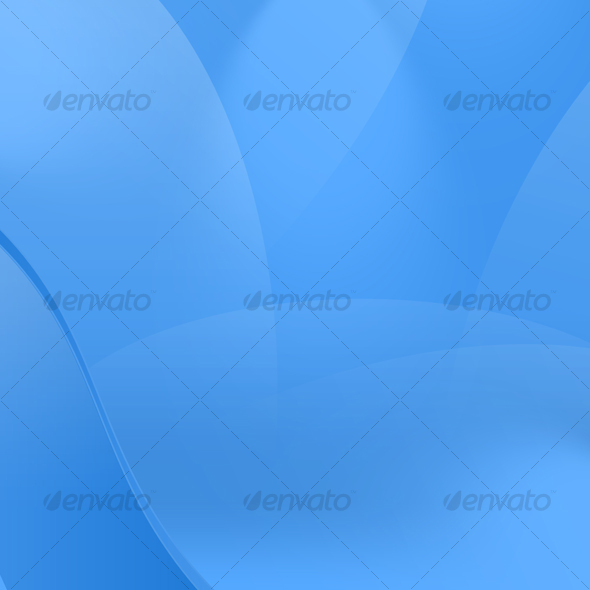 Glossy Blue Curved Abstract Background - Abstract Backgrounds
