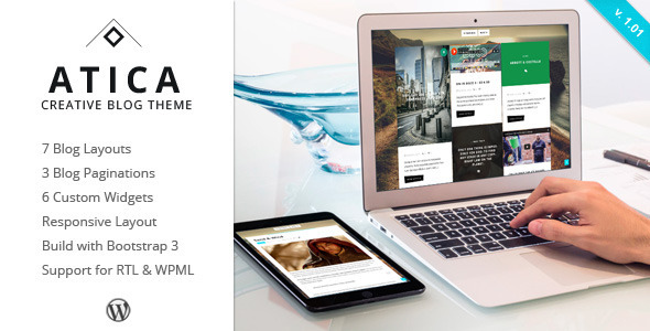 Atica – WordPress Creative Blog Theme