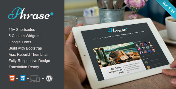 Phrase – Responsive WordPress Blog Theme