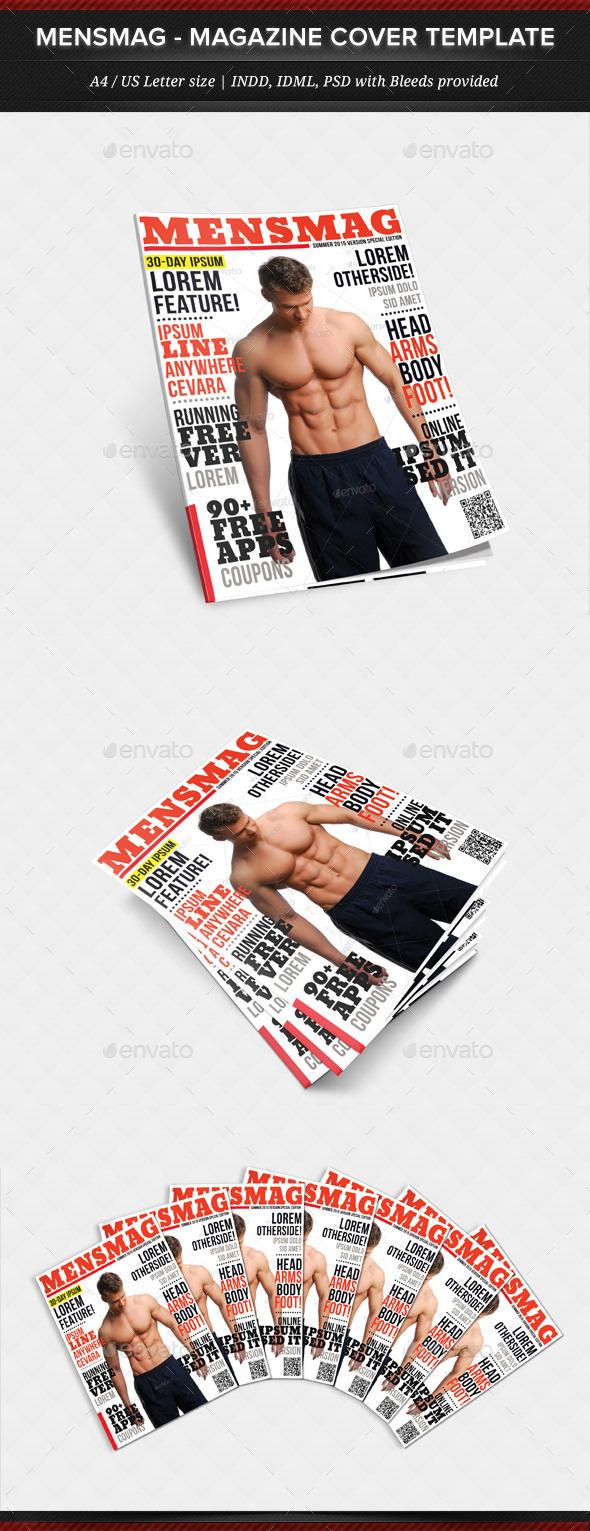 MensMag - Multipurpose Magazine Cover Template - Magazines Print Templates