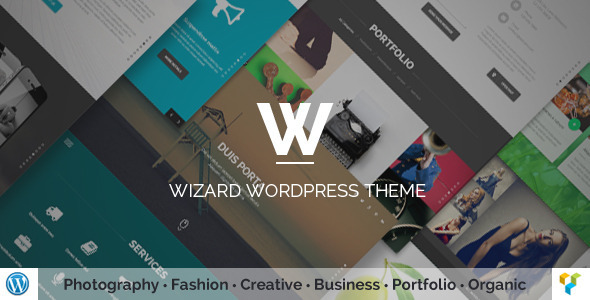Wizard - Fullpage Portfolio WordPress Theme