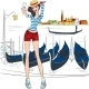 Vector Lovely Fashion Girl  Makes Selfie In Venice - GraphicRiver Item for Sale