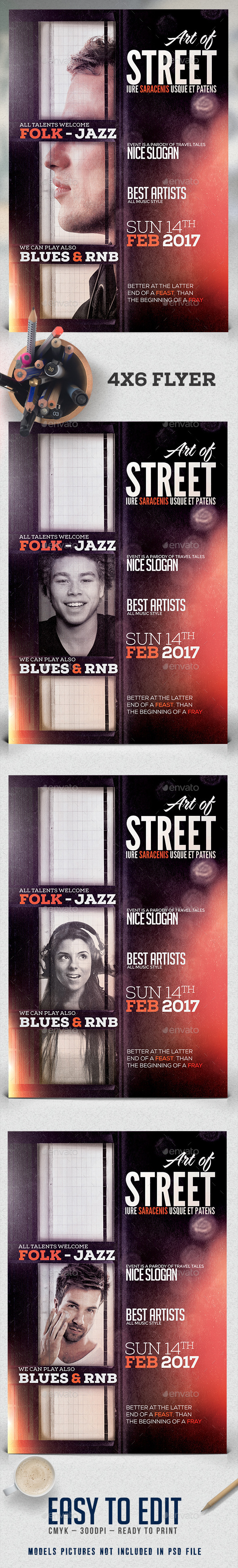 Art Of Street Flyer Template - Clubs & Parties Events