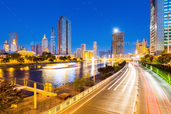 tianjin night scene - Stock Photo - Images