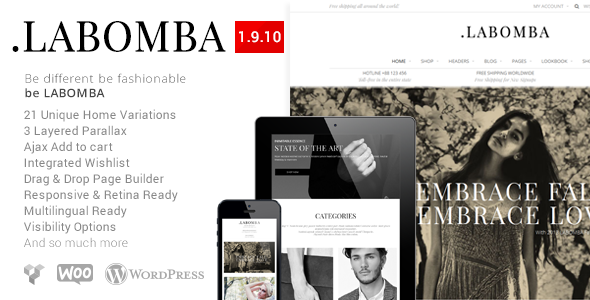 Labomba – Responsive Multipurpose WordPress Theme
