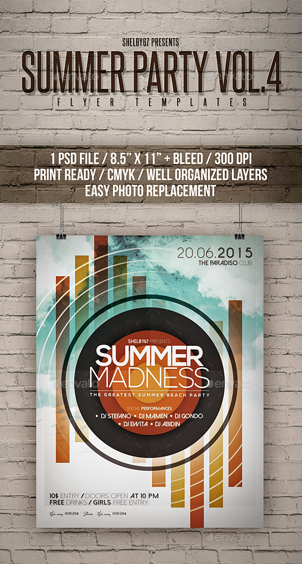 Summer Party Flyer / Poster Vol 4 - Events Flyers