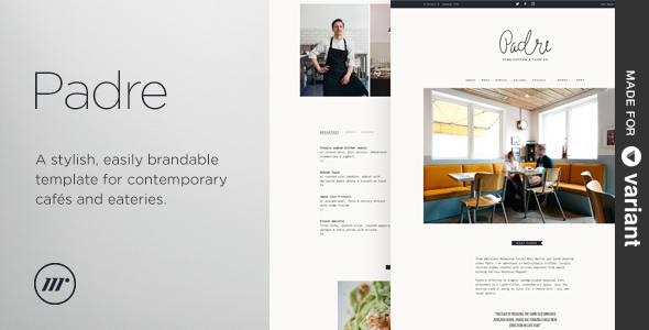 Padre – Cafe & Restaurant + Variant Page Builder