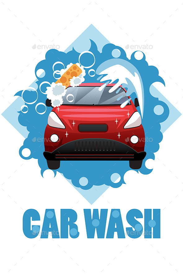 Car Wash Poster - Backgrounds Decorative