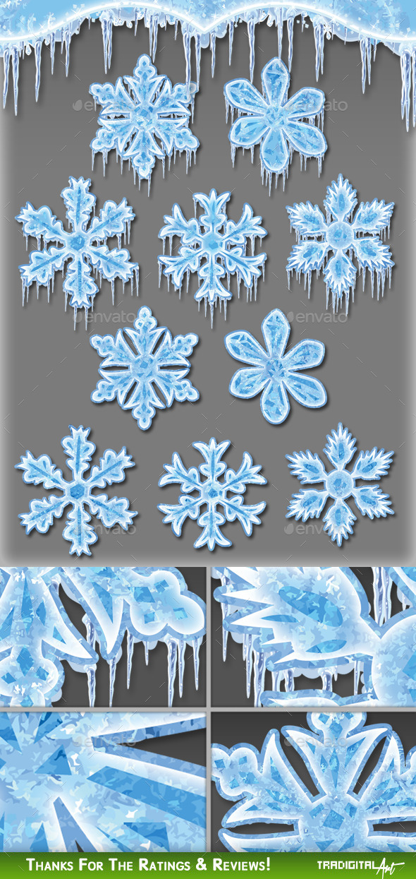 Frozen Snowflakes - Decorative Symbols Decorative