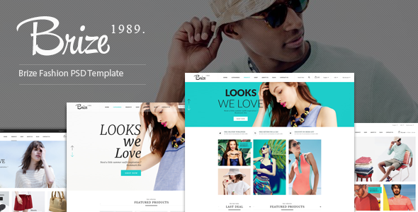 Brize – Fashion PSD Template