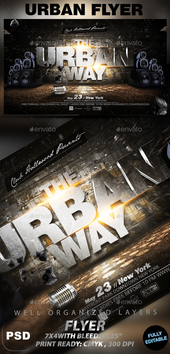 The Urban Way - Events Flyers