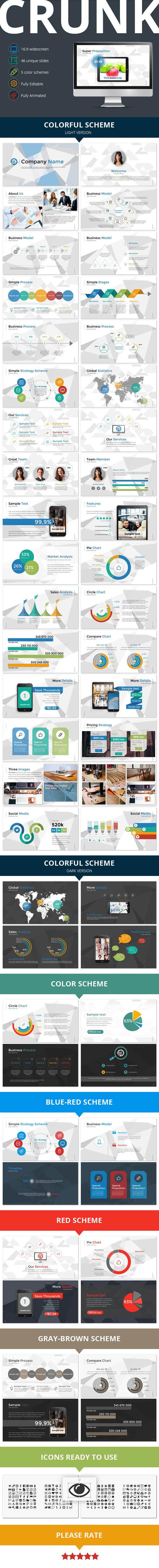 Crunk Multipurpose Presentation Template - Business PowerPoint Templates