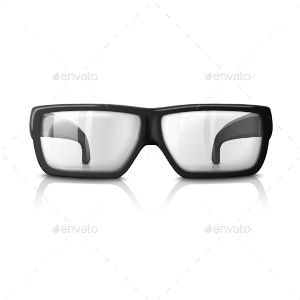 Vector Realistic Glasses Illustration Isolated - Man-made Objects Objects