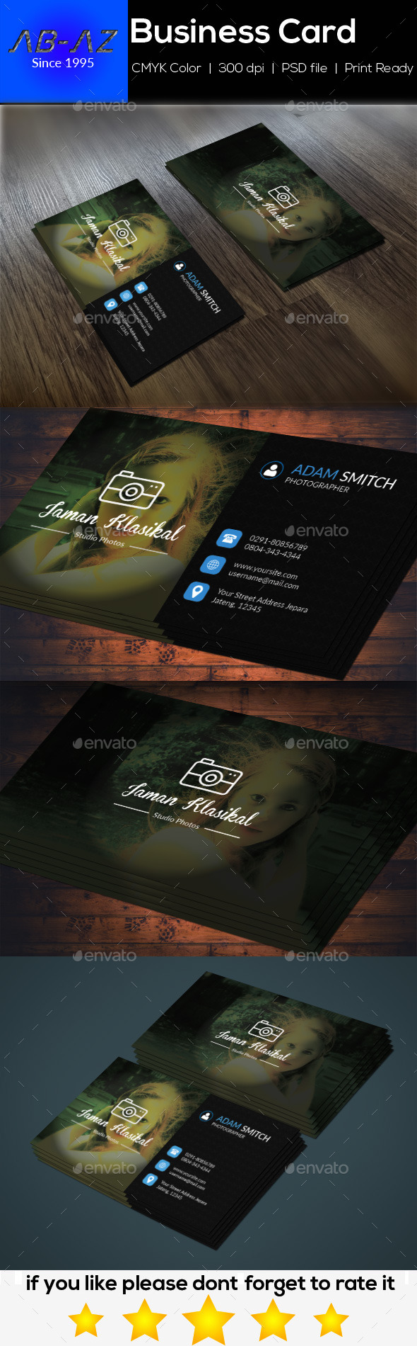 Photography Business Card V1 - Business Cards Print Templates