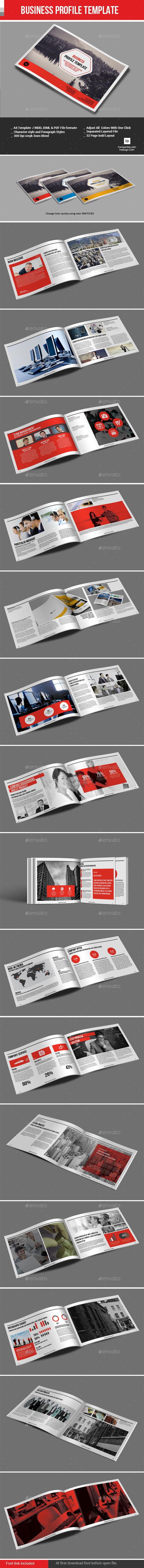 Business Profile Template - Corporate Brochures