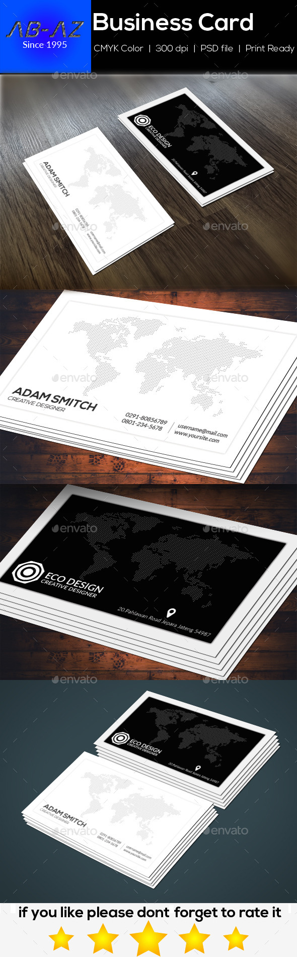 Simple Clean Business Card - Business Cards Print Templates
