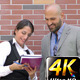 Business Man and Woman Teamwork Talking Concept 1 - VideoHive Item for Sale