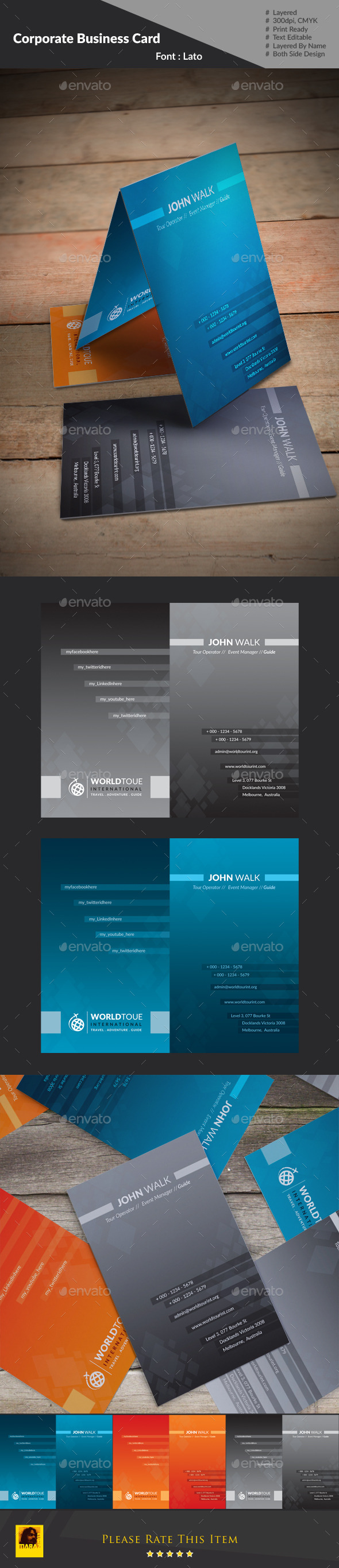 World Tour Business Card : - Industry Specific Business Cards