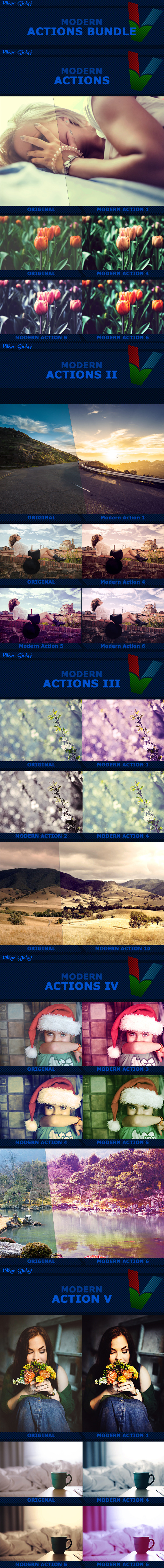 200 Modern Actions Bundle - Photo Effects Actions