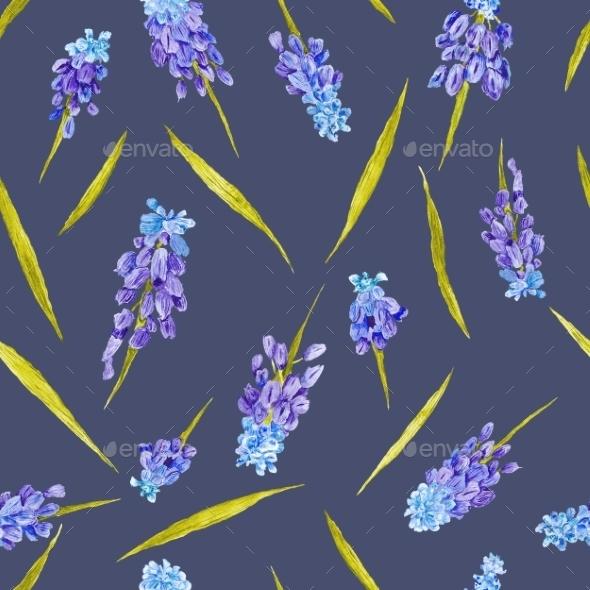 Provence Floral Motif Texture - Backgrounds Decorative