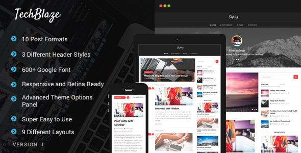 TechBlaze – Professional WordPress Blog Theme