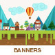 Summer Landscape Banners - GraphicRiver Item for Sale