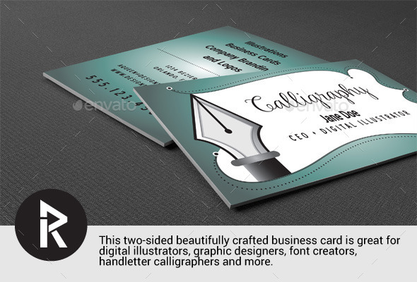 Business card for Illustrators - Curve Queens - Retro/Vintage Business Cards