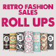 Retro Fashion Sales - Roll Ups - GraphicRiver Item for Sale