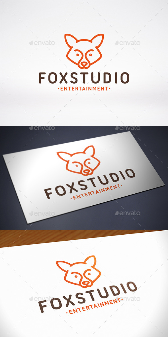 Fox Studio Logo Template - Animals Logo Templates