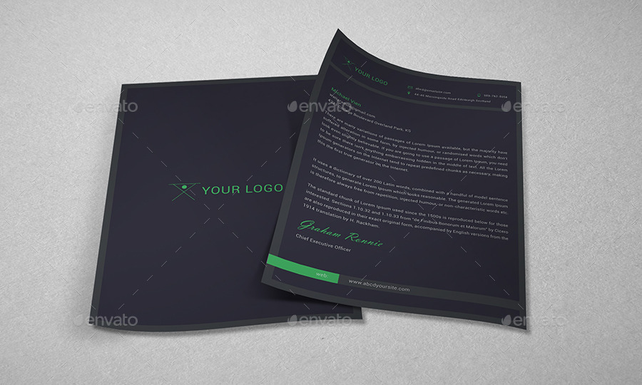 Dark business card letterhead by dotnpix graphicriver dark business card letterhead colourmoves