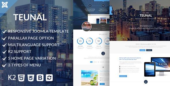 Teunal – Responsive Joomla template