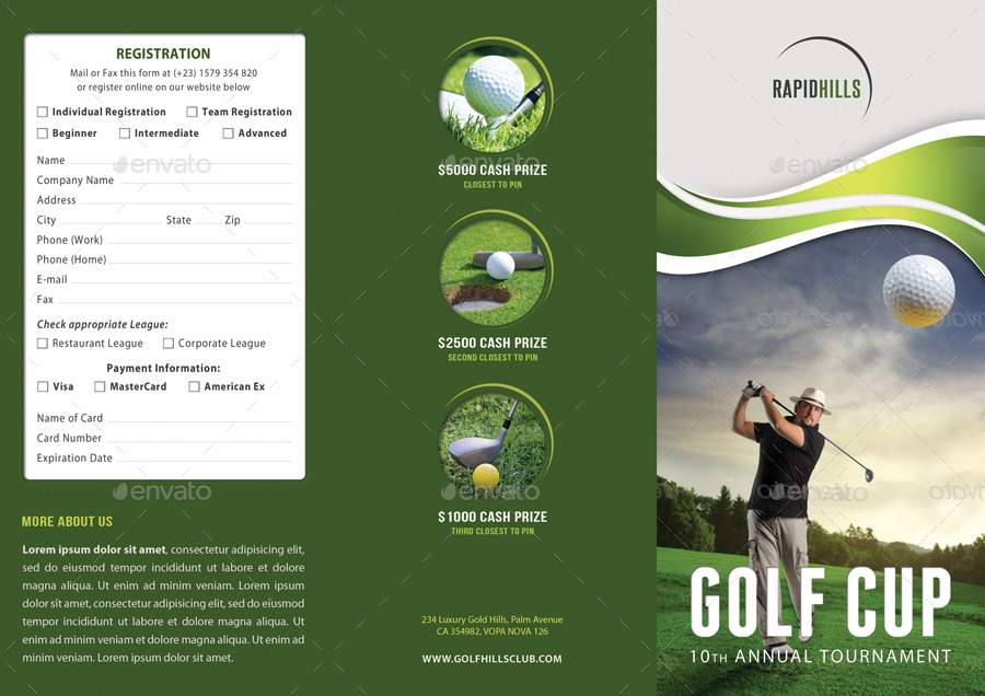 3 In 1 Golf Cup Event Brochure Bundle By Rapidgraf | Graphicriver