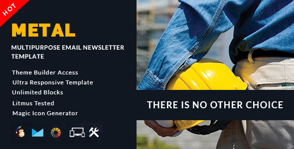 Metal – Multipurpose Email + Builder Access