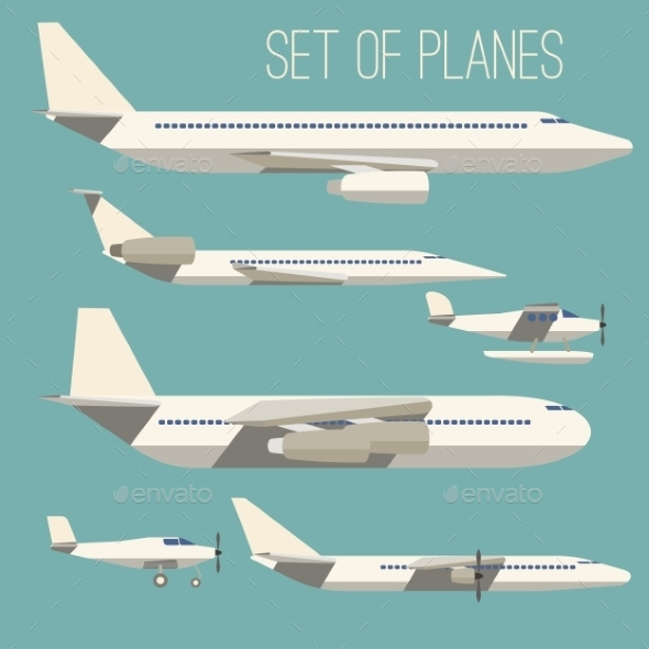 Set of Flat Planes - Travel Conceptual