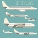 Set of Flat Planes - GraphicRiver Item for Sale