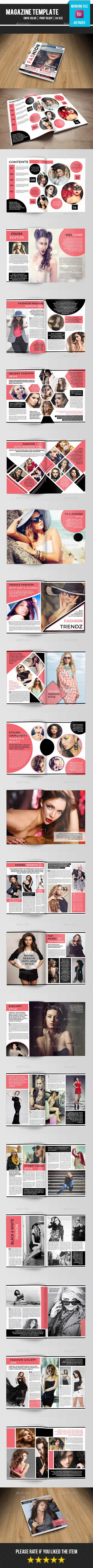 Fashion Magazine Template-v13 - Magazines Print Templates