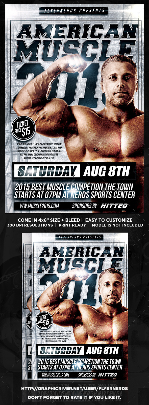 American Muscle 2015 Sports Flyer - Sports Events