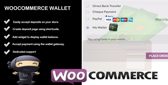 Wallet - Woocommerce Account Deposit & Payment - CodeCanyon Item for Sale