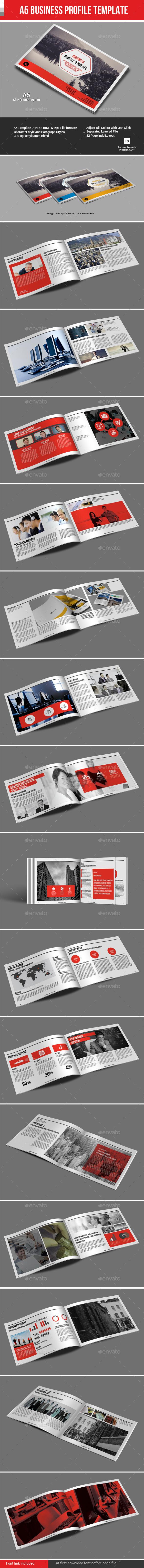 A5 Business Profile Template - Corporate Brochures