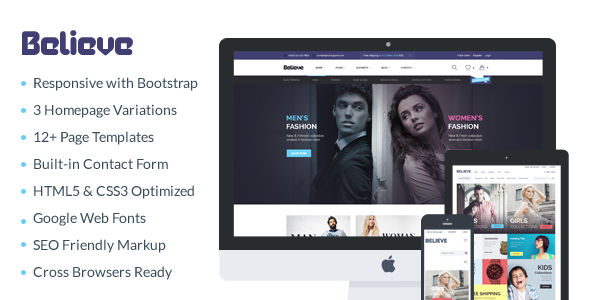 Believe - Responsive eCommerce HTML Template