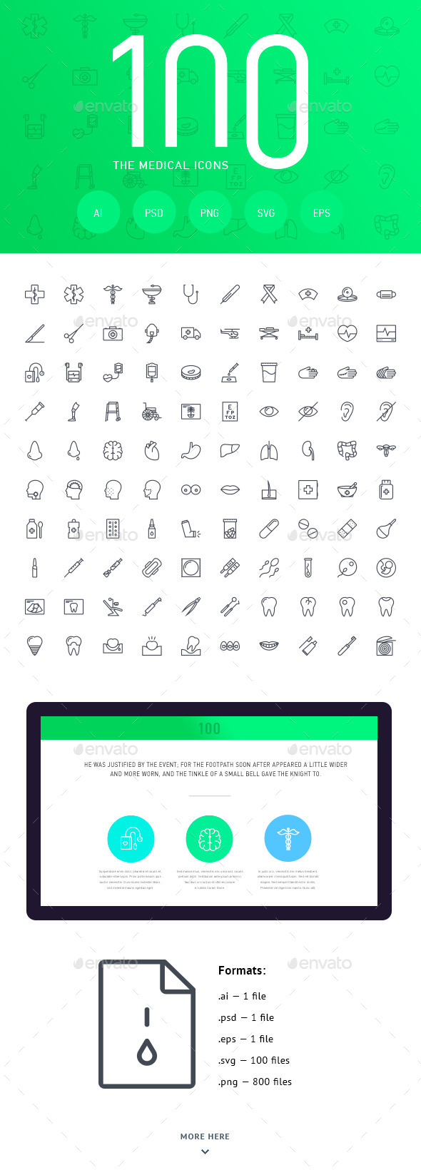 The Medical Icons 100 - Web Icons