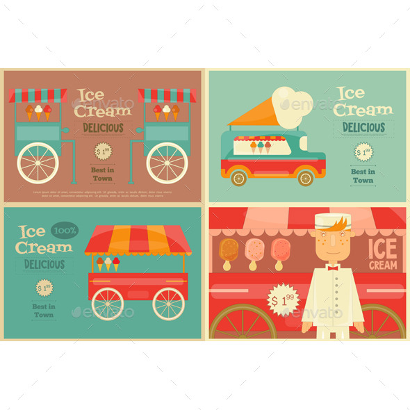 Ice Cream Poster - Food Objects