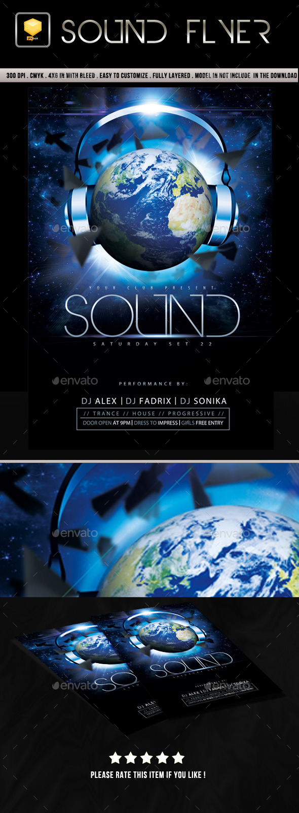 Sound Flyer - Clubs & Parties Events